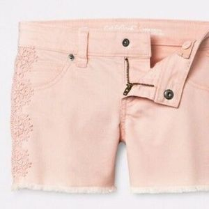 Cat & Jack Pink Crochet Side Super Stretch Short